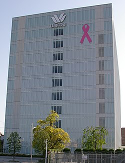 Wacoal HQ with pink ribbon 20060504.jpg