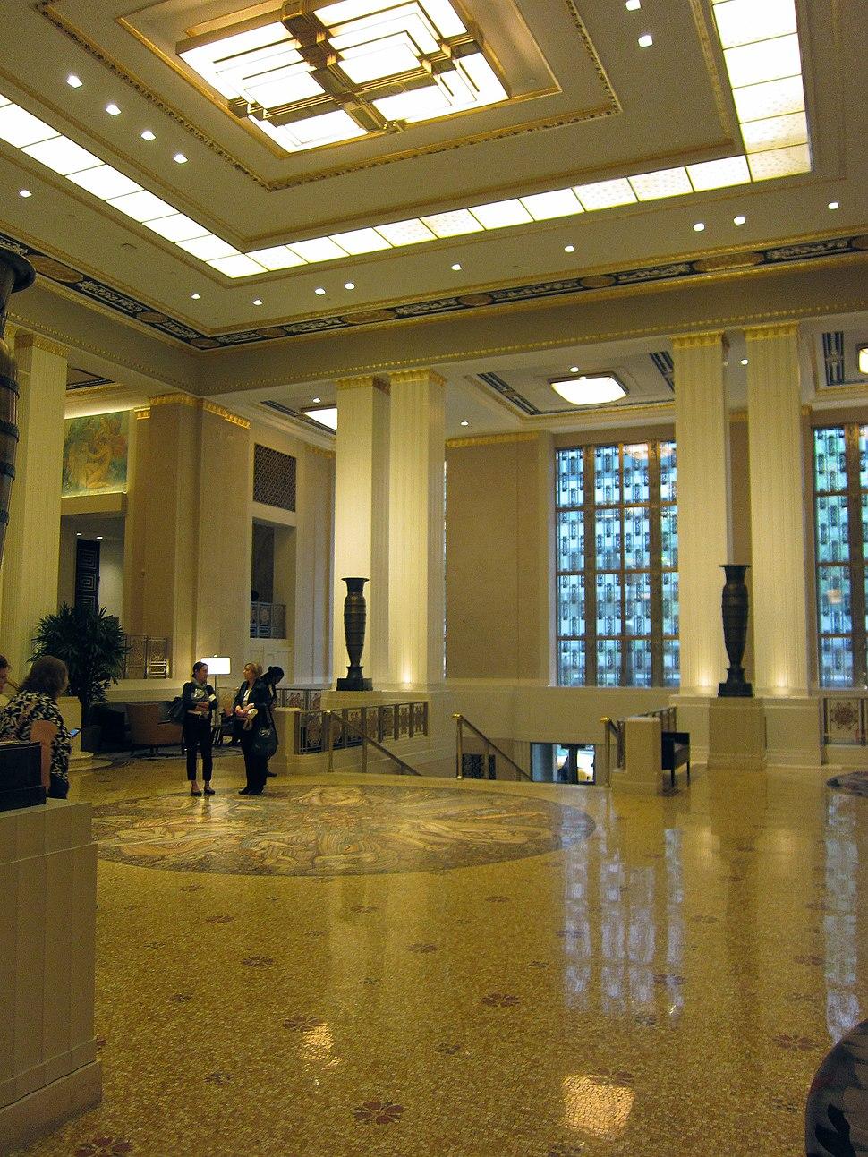 Waldorf Astoria lobby view 2