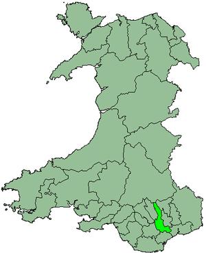 District of Rhymney Valley - Image: Wales Rhymney Valley 1974