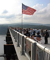 The pedestrian Walkway over the Hudson, also connecting Poughkeepsie and Highland