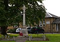 War Memorial (with School in background). Stoke Goldington - geograph.org.uk - 249477.jpg