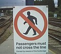 Warning sign on Derby station - geograph.org.uk - 1095062.jpg