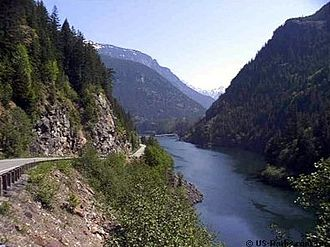 Skagit River - Gorge Lake portion of the Skagit River in Washington