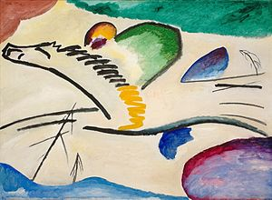 Expressionism - Wassily Kandinsky, 1911, Reiter (Lyrishes), oil on canvas, 94 × 130 cm, Museum Boijmans Van Beuningen