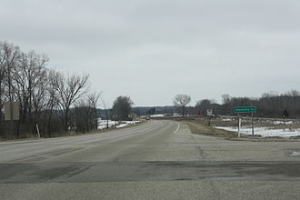Waukesha County, Wisconsin - Waukesha County sign on WIS 59