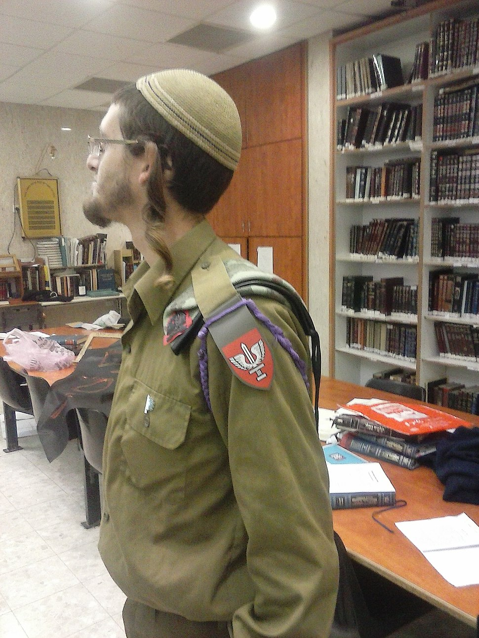 Welfare NCO from Netzah Yehuda Battalion