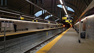 railway station in Alberta, Canada
