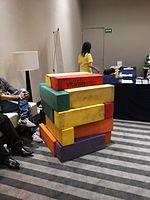 Wikimania 2015-Wednesday-Volunteers play Weasel-Jenga (36).jpg