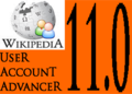 Wikipedia User Account Advancer 11.0 logo.png