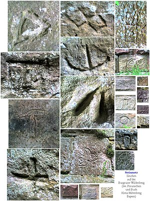Wildenberg Castle (Kirchzell) - The variety of mason's marks