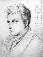 Karl Varnhagen von Ense 1822 (Zeichnung von Wilhelm Hensel) (Quelle: Wikimedia)