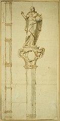 Design for a ceremonial staff with Christ the Saviour
