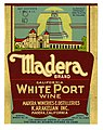 Wine label, K. Arakelian Inc., Madera Brand California White Port Wine (14330696532).jpg