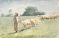 Winslow Homer - Girl and Sheep (1880).jpg