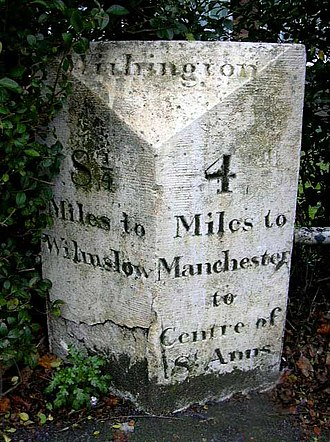 Withington - Withington milestone