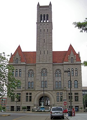 The Wood County Courthouse in Parkersburg