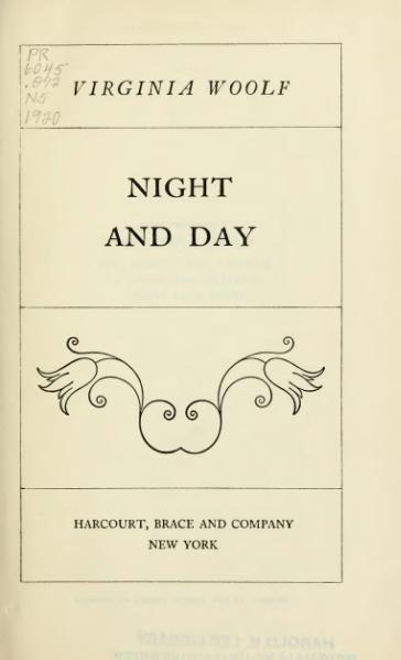 File:Woolf - Night and Day.djvu