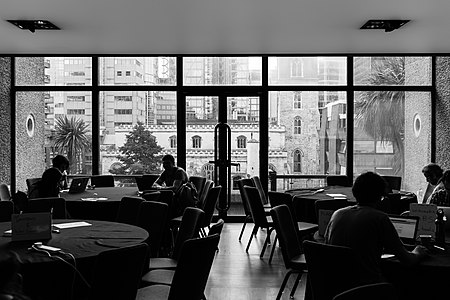 Workgroups during the hackaton, Wikimania 2014-6.jpg
