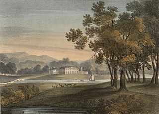 Wynn Stay, Denbighshire: the seat of Sir Watkin William Wynne, which is now splendidly fitting up for the reception of His Majesty George the Fourth, on his tour to Ireland