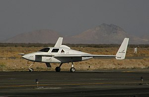 XCOR Aerospace - The Rocket Racer on landing roll-out at Mojave.