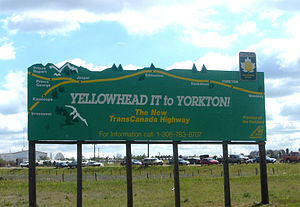 Yellowhead Highway - Yellowhead Highway sign