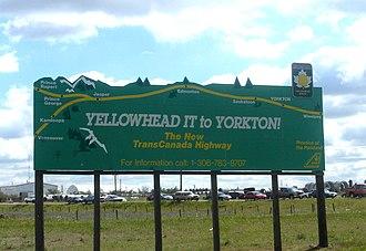 Yellowhead Highway - Yellowhead Highway sign