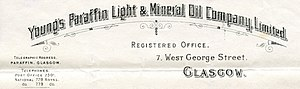 James Young (chemist) - Image: Young's Paraffin Light and Mineral Oil Company Letterhead 1909