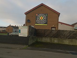 Loyalist Volunteer Force - A sign of the youth wing of the LVF in Ballycraigy, an area which is regarded as an LVF stronghold