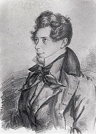 Akademiska Sångföreningen - Drawing of the young Pacius by Mazér