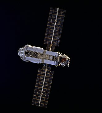 Zarya as seen by Space Shuttle Endeavour during STS-88 Zarya from STS-88.jpg