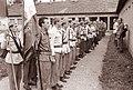 Zbor študentovske brigade v Gregorčičevi ulici v Mariboru pred odhodom na pohod po poteh XIV. divizije 1962.jpg
