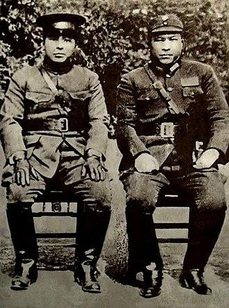 Xi'an Incident - Zhang Xueliang and Yang Hucheng in 1936