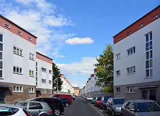 Ernst May - 'Zig-Zag Houses' in Frankfurt.