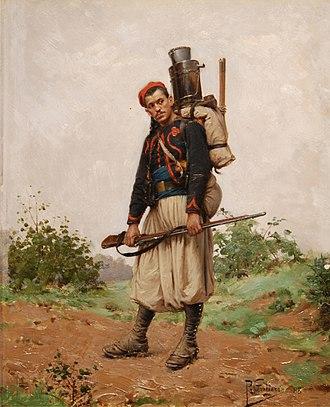 Zouave - French zouave, circa 1870