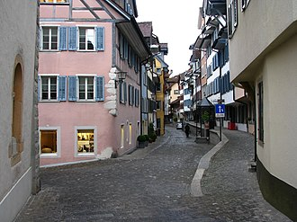 Zug - Oberstadt (upper town) in the Altstadt