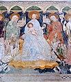 Zweinitz Pfarrkirche hl Egydius Chor S-Wand got Fresko Sacra Conversazione Ausschnitt 22102014 573.jpg
