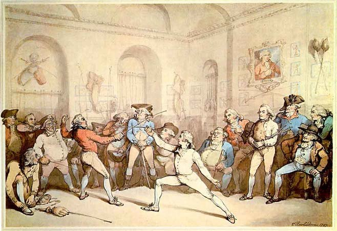 """I shall conquer this"", Rowlandson, 1787"
