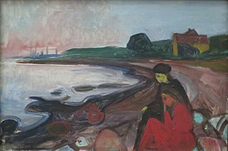 Beach with two Seated Women