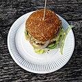 'Gourmet cheeseburger' - Bradleys Original Tea Hut at High Beach, Essex, England 1.jpg