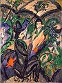 'Paar unter Japanschirm' by Ernst Ludwig Kirchner, 1913.jpg
