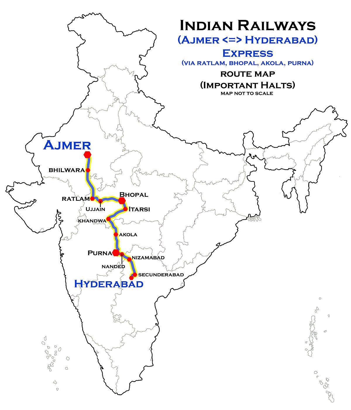 AjmerHyderabad Meenakshi Express  Wikipedia