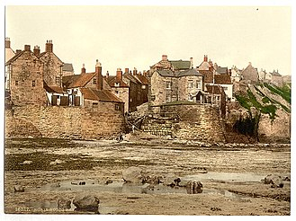 "Robin Hood's Bay - ""Whitby, Robin Hood's Bay, Yorkshire, England"", ca. 1890 - 1900."