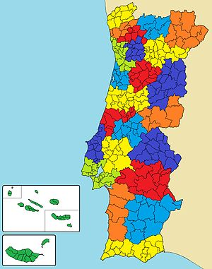 Alto Alentejo (intermunicipal community) - Map showing the location of the Alto Alentejo intermunicipal community (in dark blue)