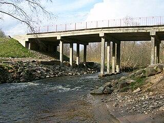 The river Sunija. The Taurage-Silale road bridge