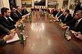 Επίσκεψη, Υπουργού Εξωτερικών, Ν. Κοτζιά στην πΓΔΜ – Συνάντηση ΥΠΕΞ, Ν. Κοτζιά, με Πρόεδρο κόμματος VMRO, H. Mickoski (23.03.2018) (40079011775).jpg