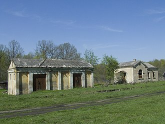 Leninsky District, Tula Oblast - A former railway station in the village of Rvy in Leninsky District