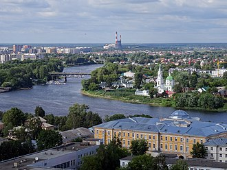 Tver - Panoramics of the Volga and the St. Catherine Church