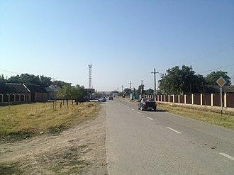 Naursky District - Entering village in Naursky District