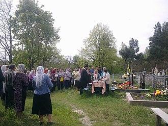 Radonitsa - Provody or pomynky (Ukrainian names of Radonitsa) in Ukraine