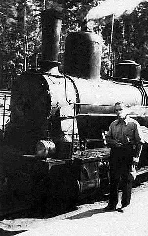 К.Г.Паустовскийна узкоколейке Рязань— Тума в Солотче, 1930 годы